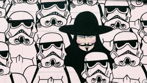 kambeckfilm Grafik mit Star Trooper und Guy Fawkes